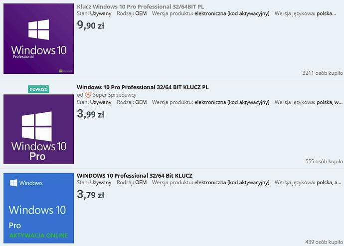 Screenshot 2021-07-19 at 18-54-35 Windows 10 - Niska cena na Allegro pl