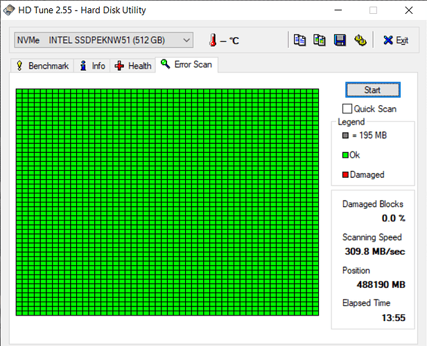 HD Tune test