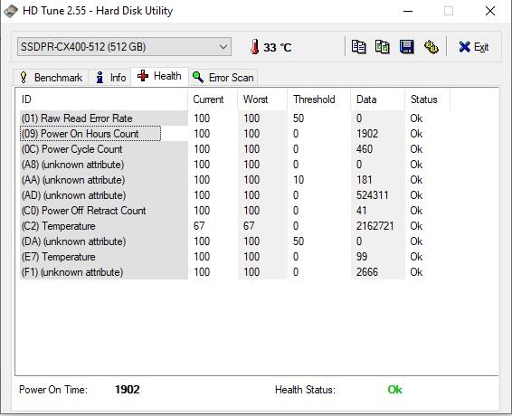 health SSDPR CX400 512GB