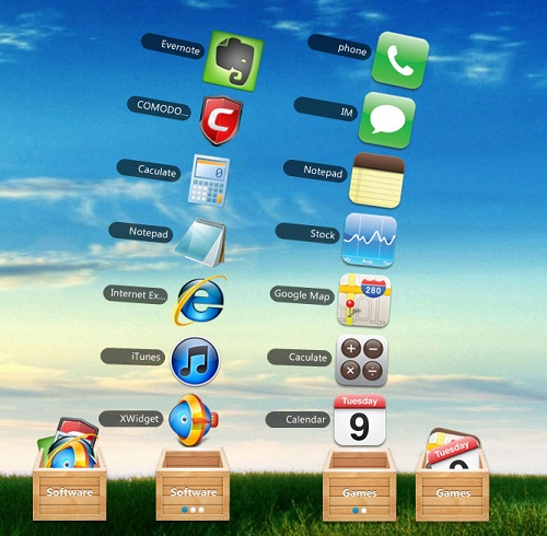 Mac-Stacks-Look-Alike-Widget